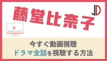 ドラマ|藤堂比奈子の動画を無料で1話から最終回まで視聴する方法