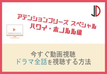 ドラマ アテンションプリーズ スペシャル(ハワイ)の動画を無料でフル視聴する方法