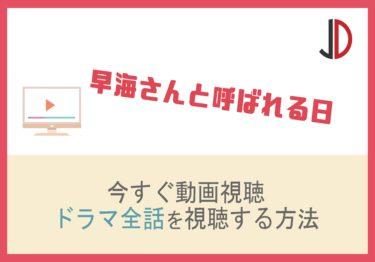 ドラマ 早海さんと呼ばれる日の動画を無料で1話から最終回まで視聴する方法