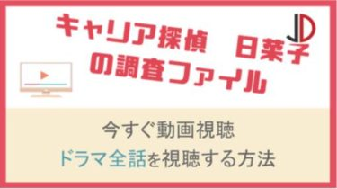 ドラマ|キャリア探偵日菜子の調査ファイルの動画をフル視聴する方法