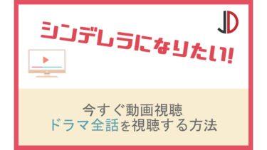 ドラマ|シンデレラになりたい(大倉忠義)の動画を無料でフル視聴する方法