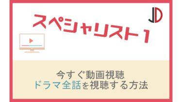 ドラマ|スペシャリスト1(草彅剛)の動画を無料でフル視聴する方法